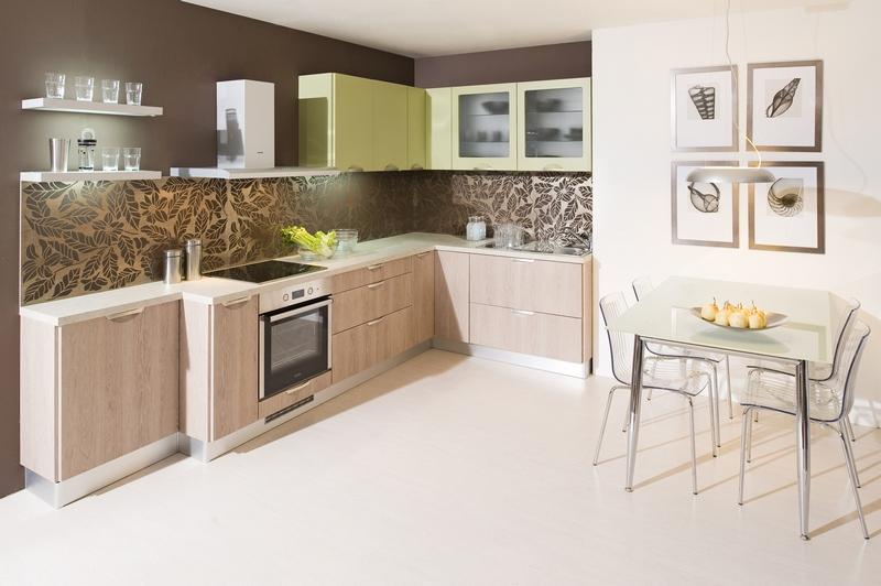 Kuchyně v pastelových barvách