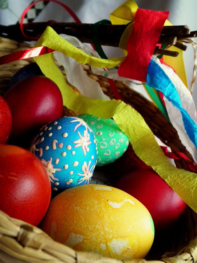 Barevná velikonoční vejce