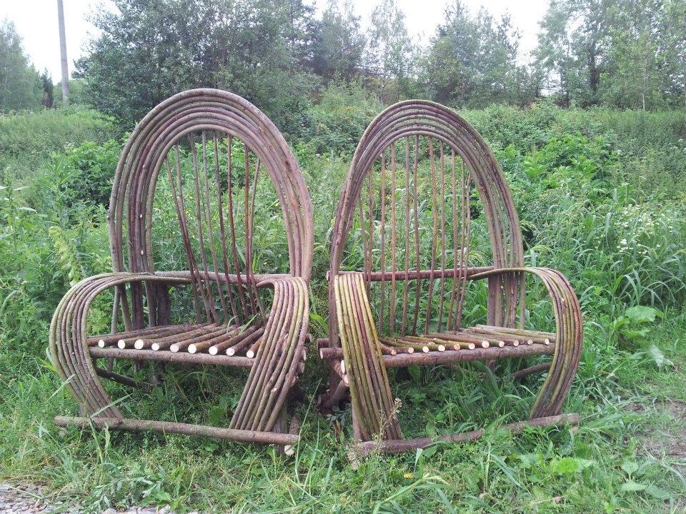 Zahradní křesla z vrby