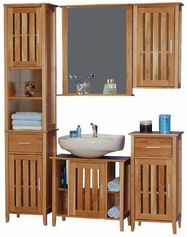 Dřevěný koupelnový nábytek