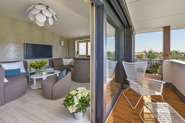 Obývací pokoje s terasou