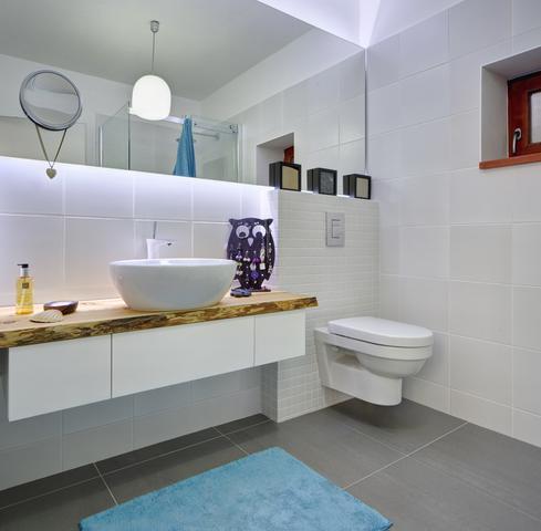 Světlá koupelna