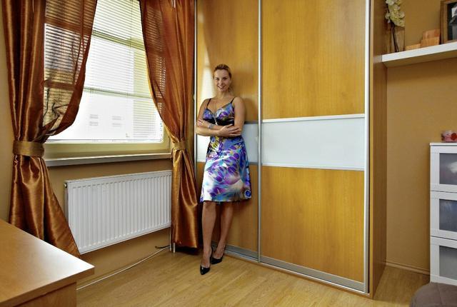 Vestavěné skříně obývací pokoj