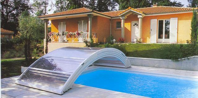 Bazénové zastřešení obloukové