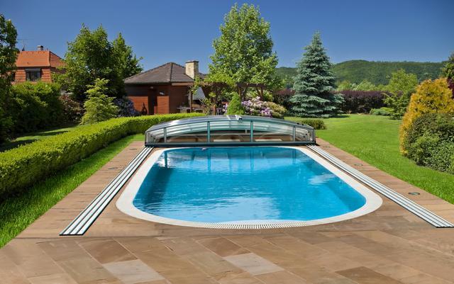 Bazénové zastřešení nízké