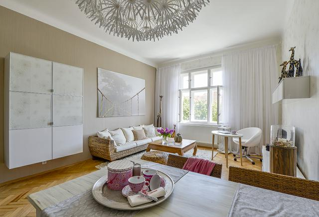 Obývací pokoje celý v bílem