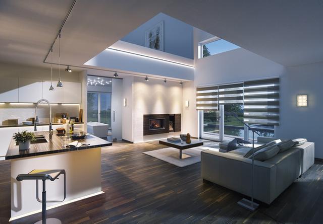 Obývací pokoj s LED pásky