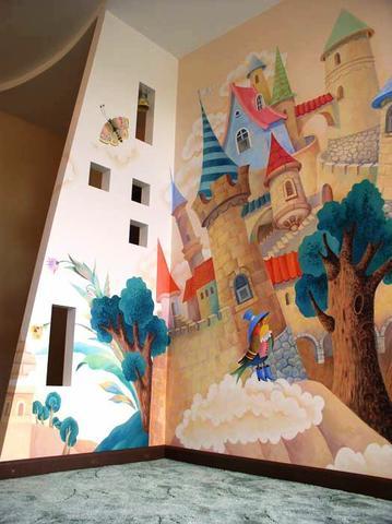 Malba na zdi dětský pokoj - Design a bydlení