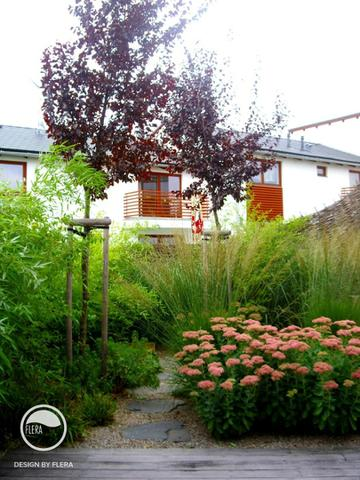 Přirozené záhony v zahradě
