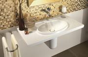 Koupelna zlatý design detail