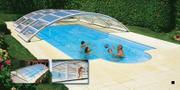 Posuvné bazénové zastřešení