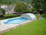 Bazény zastřešení vchod